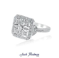 Filigree styled dress ring  jackfriedman.co.za Dress Rings, Filigree Ring, Vintage Rings, Beautiful Things, Fashion Dresses, Wedding Rings, Engagement Rings, Jewelry, Style