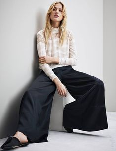 5849921c7f918 H&M Red Valentino Shoes, Fashion Pictures, Consciousness, Dress Pants,  Harem Pants,