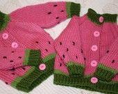 Watermelon Cardigan Sweater