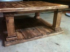 Rustic Coffee Table by HandBuiltbyTyler on Etsy