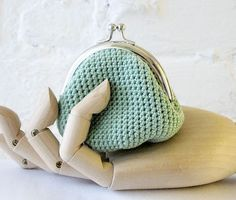 Crochet purse by studiowonjun