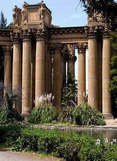 The Palace of Fine Arts, Marina District, San Francisco, California.  Grandeur by the Pond by sigma.