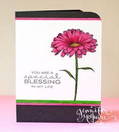 3 Simple Sentiment Stamp Tips   Jennifer McGuire Ink Tip #1: Try stamping your sentiment in a color besides black.