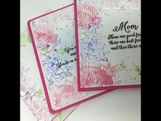 Mothers Day Cards using Gelatos and the Mini Misti - Mini Misti GIVEAWAY