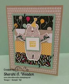 Bear Hugs Birthday Card created by Sherahl Weadon, Independent Demonstrator, Stampin' Up! in Annapolis, MD.