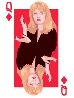 Twin Peaks Queens Playing Cards Digital Print by 60ftVenus on Etsy