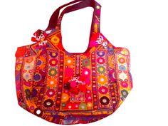 Gujarati Mirror work Hobo Handbag Pakistani Embroidery Banjara handbag and purses for ladies. Indian traditional and colorful Christmas gifts from Kirti Textile