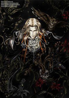 Alucard by Dorothy-T-Rose on DeviantArt Alucard Castlevania, Castlevania Netflix, Castlevania Lord Of Shadow, Fantasy Heroes, Dark Fantasy Art, Hot Anime Boy, Bloodborne, Video Game Art, Anime Artwork