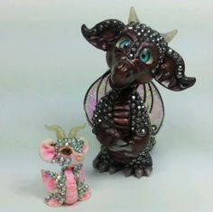 OOAK Miniature Crystal Baby Dragons Fantasy Polymer Clay Handmade Fairy Art Doll | eBay