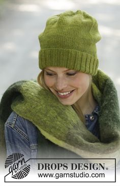 Green Apple - Knitted hat in DROPS Lima. Piece is knitted with fold in rib. Free knitted pattern DROPS Blasen Green Apple / DROPS - Free knitting patterns by DROPS Design Easy Knit Hat, Loom Knit Hat, Knit Hat For Men, Knit Crochet, Crochet Hats, Drops Design, Knitting Patterns Free, Free Knitting, Free Pattern