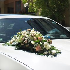 Fresh Flowers Only.- Wedding Cars, Fresh Flowers, Floral Wreath, Wreaths, Table Decorations, Pink, Home Decor, Flower Crown, Decoration Home