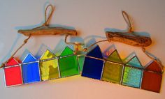 Stained Glass Beach Huts by MadeInGlass (Jan Wickes)