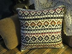 Fair Isle Pillow.  Pattern can be foud on Ravelry.com--by Kate Jackson Knits