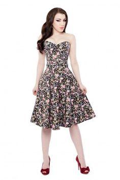 1ef3de52d56 Black Floral Circle Skirt Floral Print Design