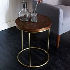 Dot Inlay Side Table #westelm
