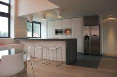 loft - modern - kitchen - other metro - Intercub Interiors Modern Kitchen Tables, Kitchen Stools, Kitchen Cupboards, Modern Kitchen Design, Kitchen Decor, Kitchen Ideas, Stainless Steel Kitchen Design, Ikea, Compact Kitchen