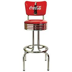 Love this coca-cola barstool! so retro.... I WANT ONE! :D x