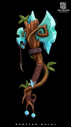 ArtStation - Stylized weapon, Debayan Dalal Game Art, Character Art, Character Design, Badass Drawings, Sword Drawing, Sword Design, Game Concept Art, Prop Design, Weapon Concept Art