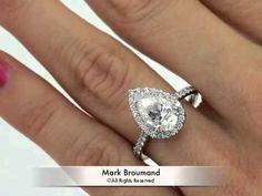 3.46ct Pear Shape Diamond Engagement Anniversary Ring- Mark Broumand