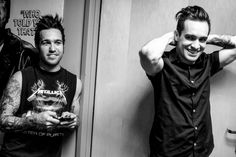 Pete Wentz of Fall Out Boy and Brendon Urie of Panic! At The Disco