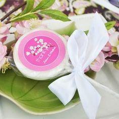 Personalized Cherry Blossom Lollipop Wedding Favors    More Wedding Favors at: www.RealWeddingDay.com