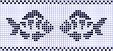 Ideas Knitting Charts Fish Fair Isles For 2019 Beaded Cross Stitch, Cross Stitch Baby, Cross Stitch Animals, Cross Stitch Embroidery, Cross Stitch Patterns, Fair Isle Knitting Patterns, Knitting Charts, Crochet Patterns, Fish Chart