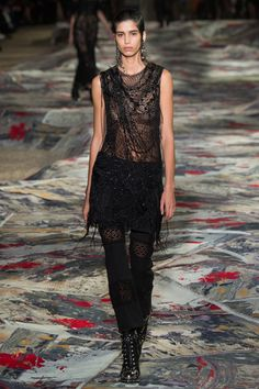Alexander McQueen | Paris Fashion Week | Spring 2017 Model: Mica Arganaraz