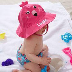 bb21401599b Personalized Baby Girl Sun Hat   Swim Diaper Cover Set - Flamingo - 20755 Baby  Sun