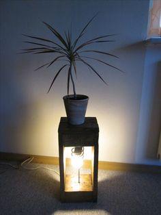 Palettenholz Lampe