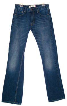 Levi's 527 Boot Cut Jeans 32x34 Whiskered Hips Levis Men's Casual Denim Pants #Levis #BootCut