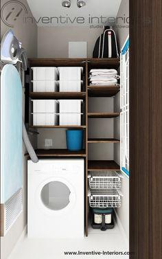 Projekt schowka Inventive Interiors - funkcjonalny schowek gospodarczy
