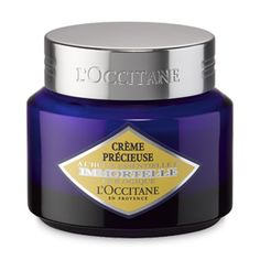 Immortelle Precious anti-wrinkles cream for face & neck by L'Occitane. With Immortelle essential oil, smoothes away wrinkles for younger-looking skin.   L' OCCITANE