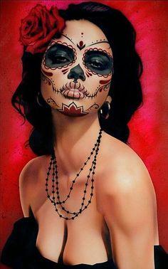 Makeup inspiration for your Dia de los Muertos look.
