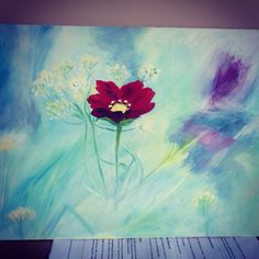 Acrylic painting using my new colours