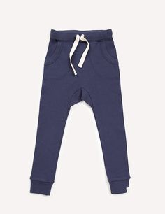 Our dropped-crotch harem style pant in an organic cotton baby rib is an everyday essential. Features include a gusset for comfort and climbing, pockets for col Slim Joggers, Trousers, Pants, Baby Wearing, Climbing, Organic Cotton, Athletic, Pockets, Unisex