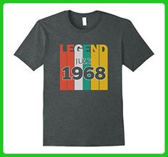 Mens Retro Vintage Legend July 1968 Birthday Gift tshirt XL Dark Heather - Birthday shirts (*Amazon Partner-Link)