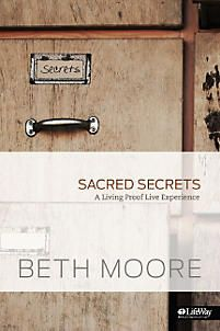 "The world is obsessed with telling secrets for the sake of sensationalism. But not all hidden things are poisonous and dark. Sacred Secrets is the new 6-session study from Beth Moore that explores secrets: some forgiven, some covered, and some just between you and God. Join Beth to find out what happens when we let God teach us ""wisdom in the secret heart"" (Psalm 51:6, ESV)."