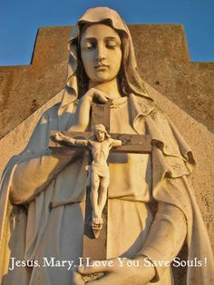 """""""There is a beautiful supplication, a quick prayer that our Lord gave to Sister Maria [Consolata] Betrone. It says- 'Jesus and Mary, I love You. Save souls.' It is very simple, but oh it carries a lot of weight."""" -Mother M Angelica"""