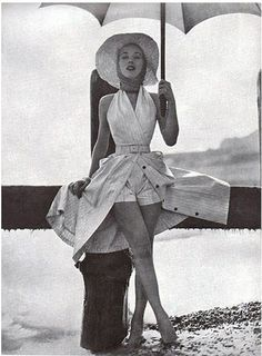 miami+in+the+1950's | Absolutely love this combo. Is it a playsuit with over-skirt? Or ...