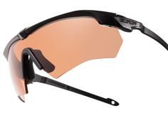 ESS Crossbow Suppressor, the world's first eye pro engineered for optimal performance and comfort under hearing protection and comms gear. (Hi Def Copper Lens shown).  Part of the interchangeable & adaptable Cross-Series family of military-grade ballistic eyeshields. To learn more click here. Military eyewear, shooting eyewear.