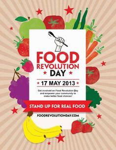 17 maggio 2013, seconda edizione del #Food Revolution Day che ha l'obiettivo di promuovere l'educazione a una #alimentazione sana, contribuire alla conoscenza del #cibo buono. #LessIsSexy