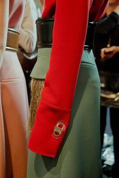 Super long sleeves at Marni AW15 MFW. See more here: http://www.dazeddigital.com/fashion/article/23893/1/marni-aw15