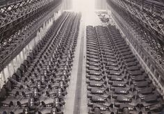 The might of the industrial capacity of the U.S during the war.