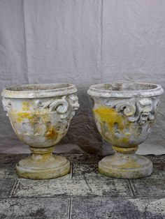 Pair of very large antique French garden urns Urn Planters, Outdoor Planters, Rustic French, French Vintage, Garden Urns, French Antiques, Punch Bowls, Pots, Flowers