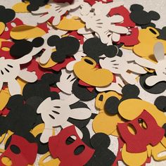 Mickey Mouse Confetti, Table Scatter, Confetti, First Baby Birthday, Custom, Wedding Decor, Table Decor, Baby Shower, Mouse, Disney by ShimmerMyParty on Etsy