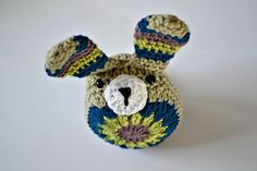 Crochet bunny tutorial by the Green Dragonfly