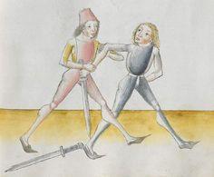Lecküchner, Hans: Kunst des Messerfechtens Nordbayern, 1482 Cgm 582 Folio 171