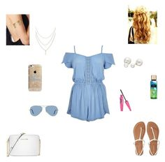 """""""☀ hello summer ☀"""" by synclairel ❤ liked on Polyvore featuring River Island, Aéropostale, Michael Kors, Allurez, Ray-Ban, Agent 18, La Senza, Summer, cute and casual"""