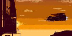 Image result for pixel art sci fi
