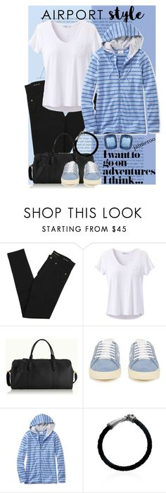 """""""Flying in Style"""" by jaimeroo ❤ liked on Polyvore featuring Yves Saint Laurent, prAna, GiGi New York, L.L.Bean, Effy Jewelry, Napier and plus size clothing"""